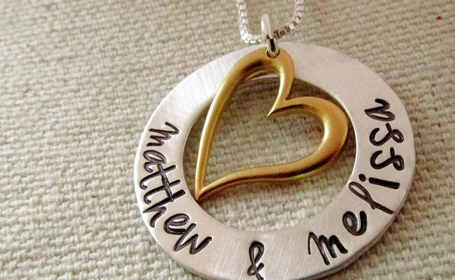 Anniversary Gift For Her Personalized Necklace Hand
