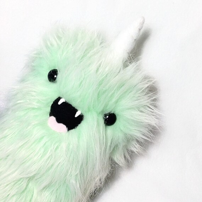 Furry Plush Stuffed Toy Weird Monster Kawaii By WonkyCritters