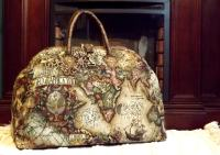 Mary Poppins Style Steampunk Carpet Bag / Travel Bag Old World