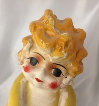 Large antique 1920s chalkware carnival kewpie by ...