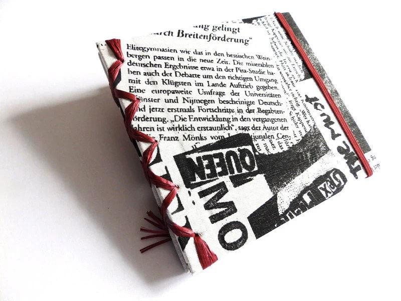 Texile Travel Journal for man,Newspaper textile covers,Holiday Sketchbook, Travel Notebook, men,Travel Diary,Reisetagebuch MADE BY ORDER