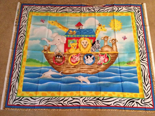 Noah' Ark Cotton Fabric Panel Fabri-quilt