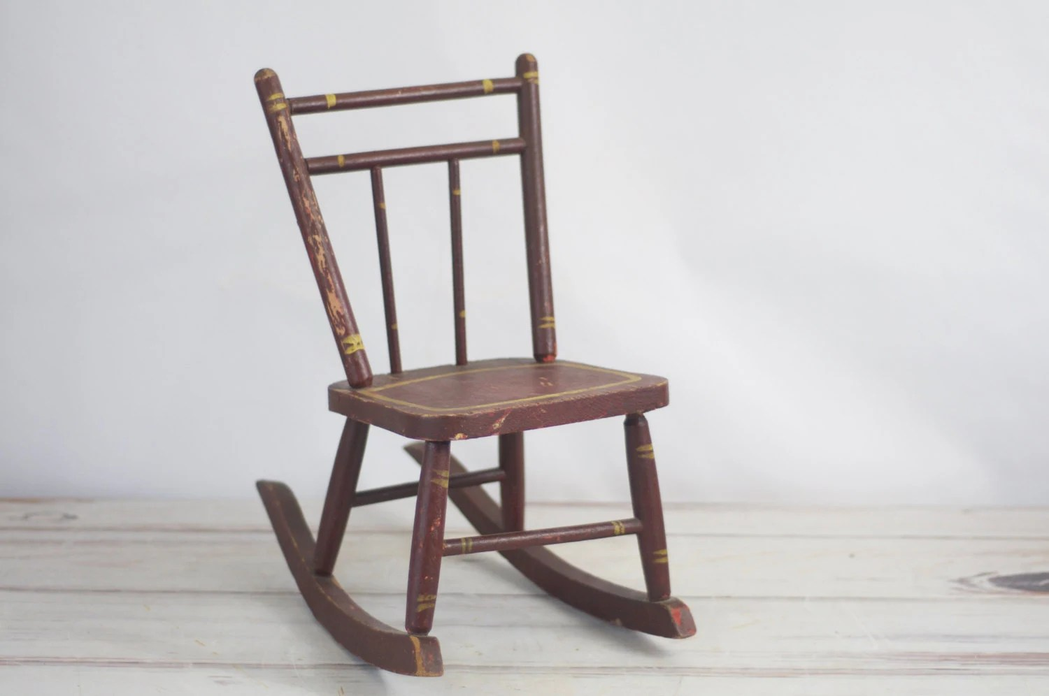 antique wooden rocking chairs kohls lounge chair vintage childs rustic