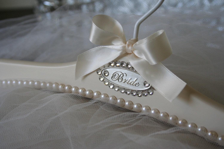 Wedding Dress Hanger Personalized Bridal Hanger Swarovski
