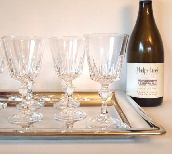 Vintage Princess House Esprit Crystal Wine Glasses