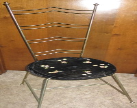 Vintage George Koch Brass Vanity Chair Mid Century Modern ...
