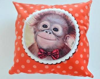 Monkey pillows  Etsy