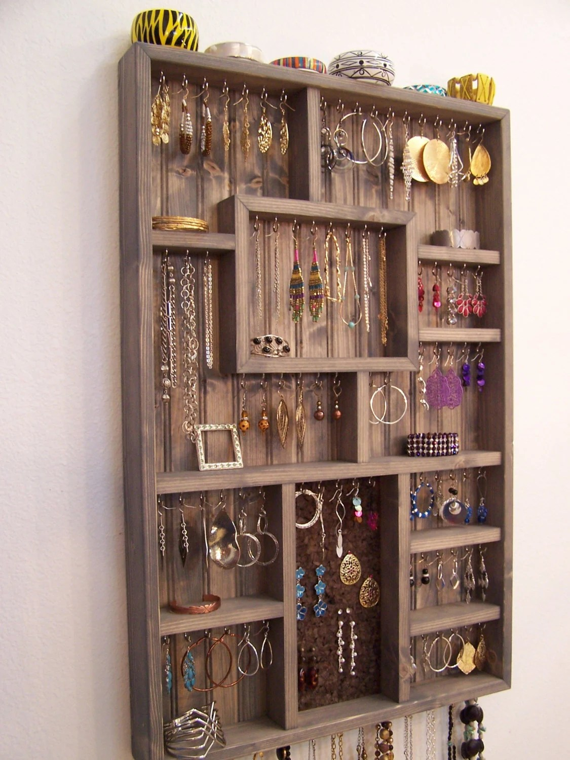 Items similar to Wall Jewelry Display Case Jewelry
