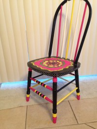Funky fancy painted chair