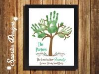 Handprint art | Etsy