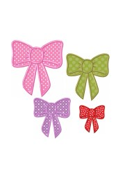 hair bow applique machine embroidery