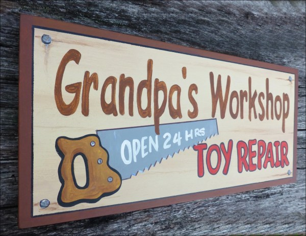 Grandpa' Workshop Sign