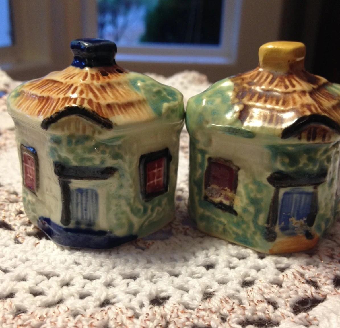 Little Cottage Salt And Pepper Shakers 1960s Haute Juice