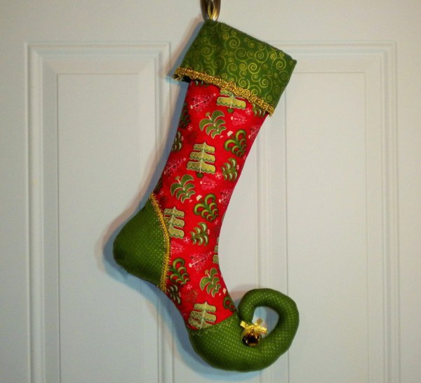 Elf Curly Toe Christmas Stockings