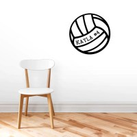 Custom Volleyball with Name Wall Decals Personalized Sports