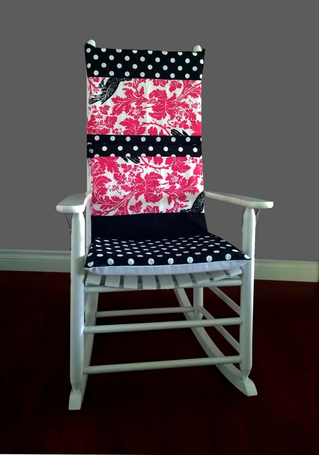 Pink Rocking Chair Cushions Rocking Chair Cushion Cover Barber Pink Black By