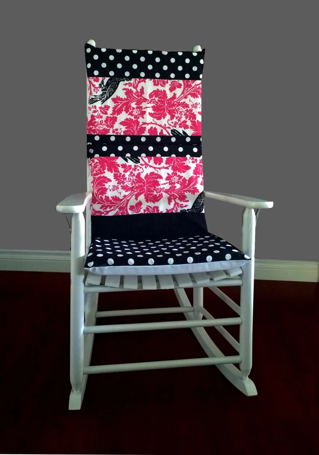 polka dot rocking chair cushions swivel chairs jordans cushion cover barber pink black by