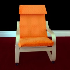 Poang Chair Covers Etsy Stackable Resin Patio Chairs On Sale Ikea Kids Cushion Slipcover Minky By
