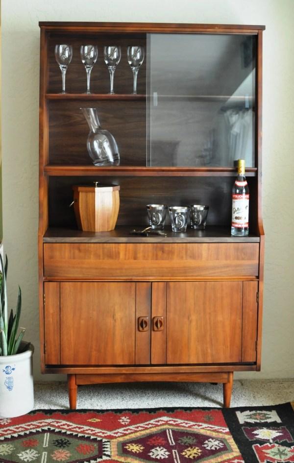 Mcm Dry Bar Liquor Cabinet Vintage Danish Modern China