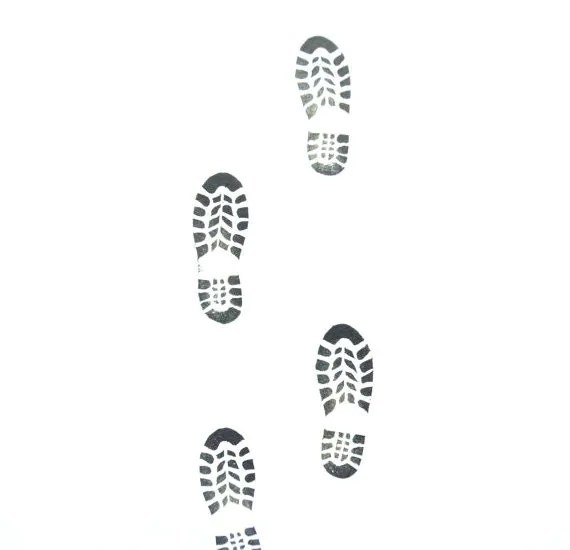Shoe Print Rubber Stamp II by Tripolo Footprint Stamp by