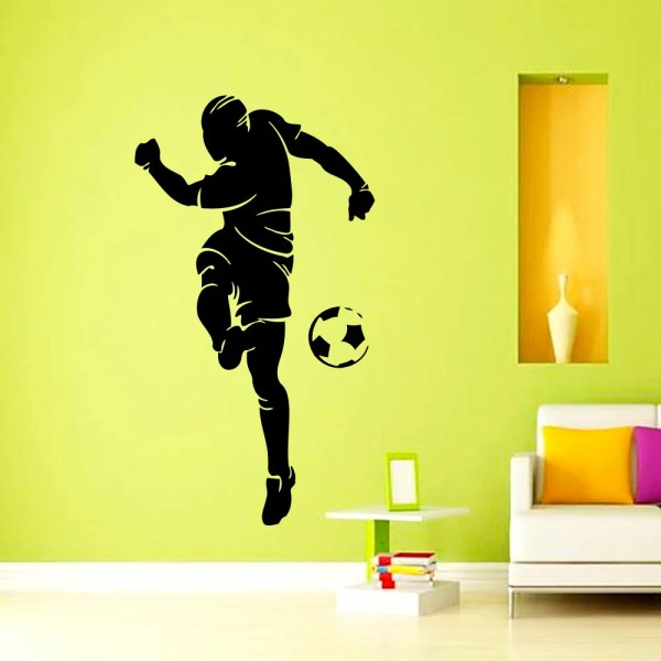 Wall Decals Soccer Player Football Sports Decal Vinyl