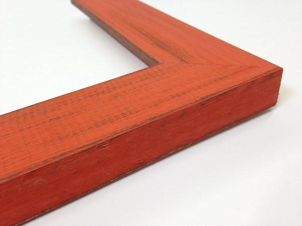 Orange Rustic Wood Frame Reclaimed Distressed