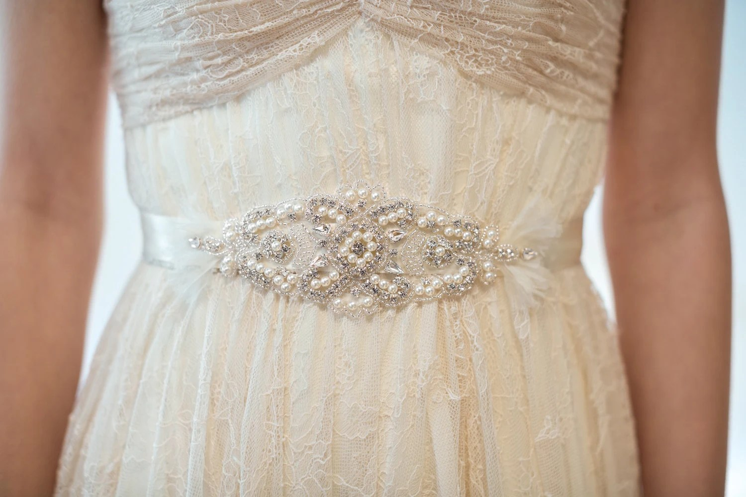 Items Similar To Bridal Gown Sash, Wedding Dress Sash