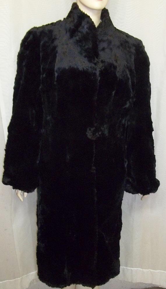 Vintage Black Hudson Seal Sheared Muskrat Coat by ShonnasVintage