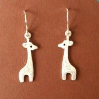 Giraffe Dangle Earrings Sterling Silver Kids Jewelry Girls