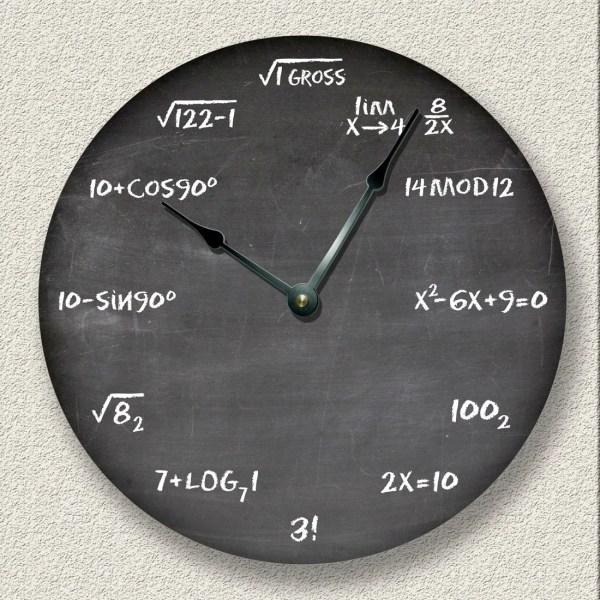 Chalkboard Wall with Clock
