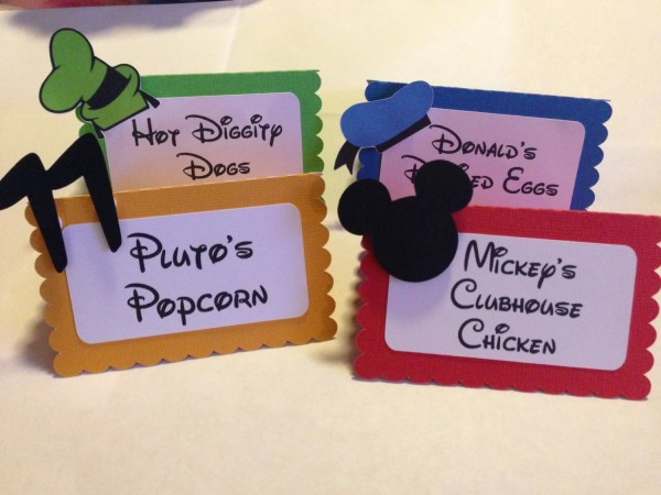 Mickey Mouse Clubhouse Place Cards Tent