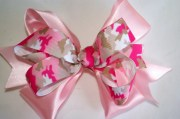 pink camouflage hair bow toddlers