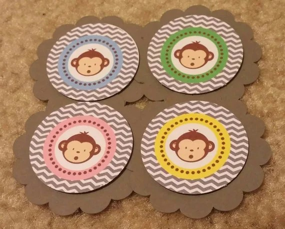 Items Similar To 12ct Monkey Tags Or Cupcake Picks On Etsy