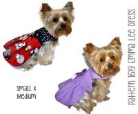 Emma Lee Dog Dress Pattern 1619 Small & Medium Dog