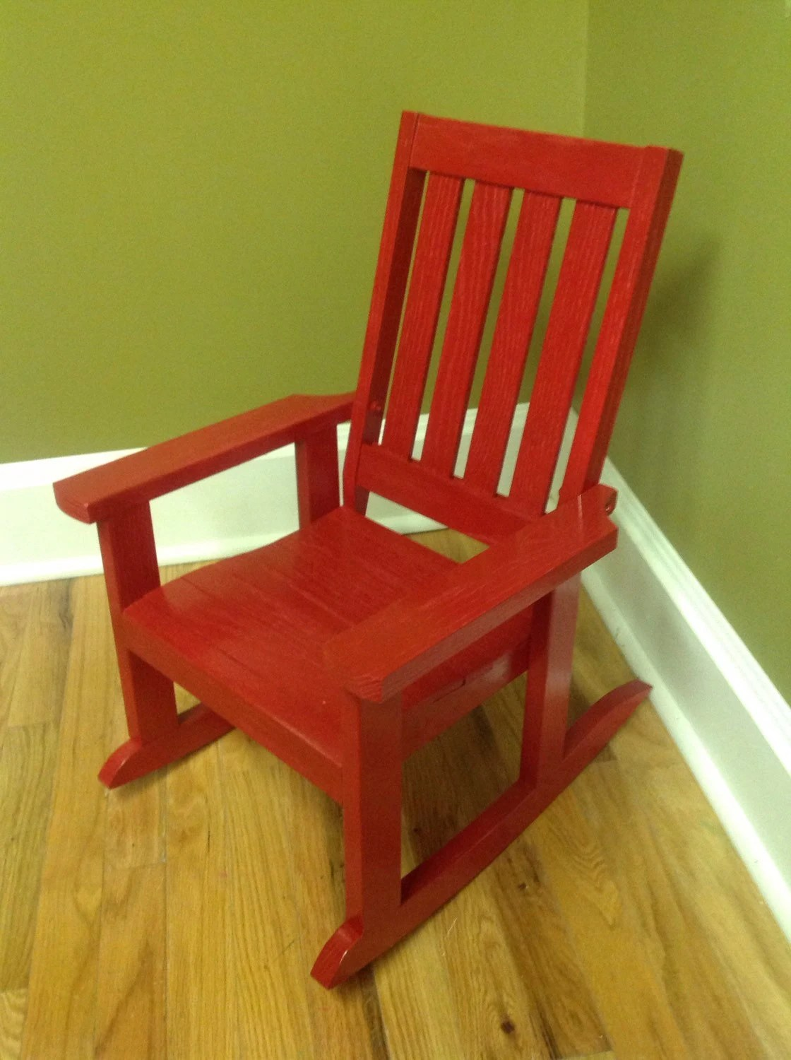 Red Rocking Chair Child 39s Oak Rocking Chair Red