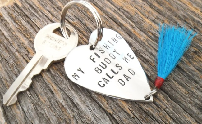 Keychain For Dad Christmas Gift For New Daddy My Fishing Buddy