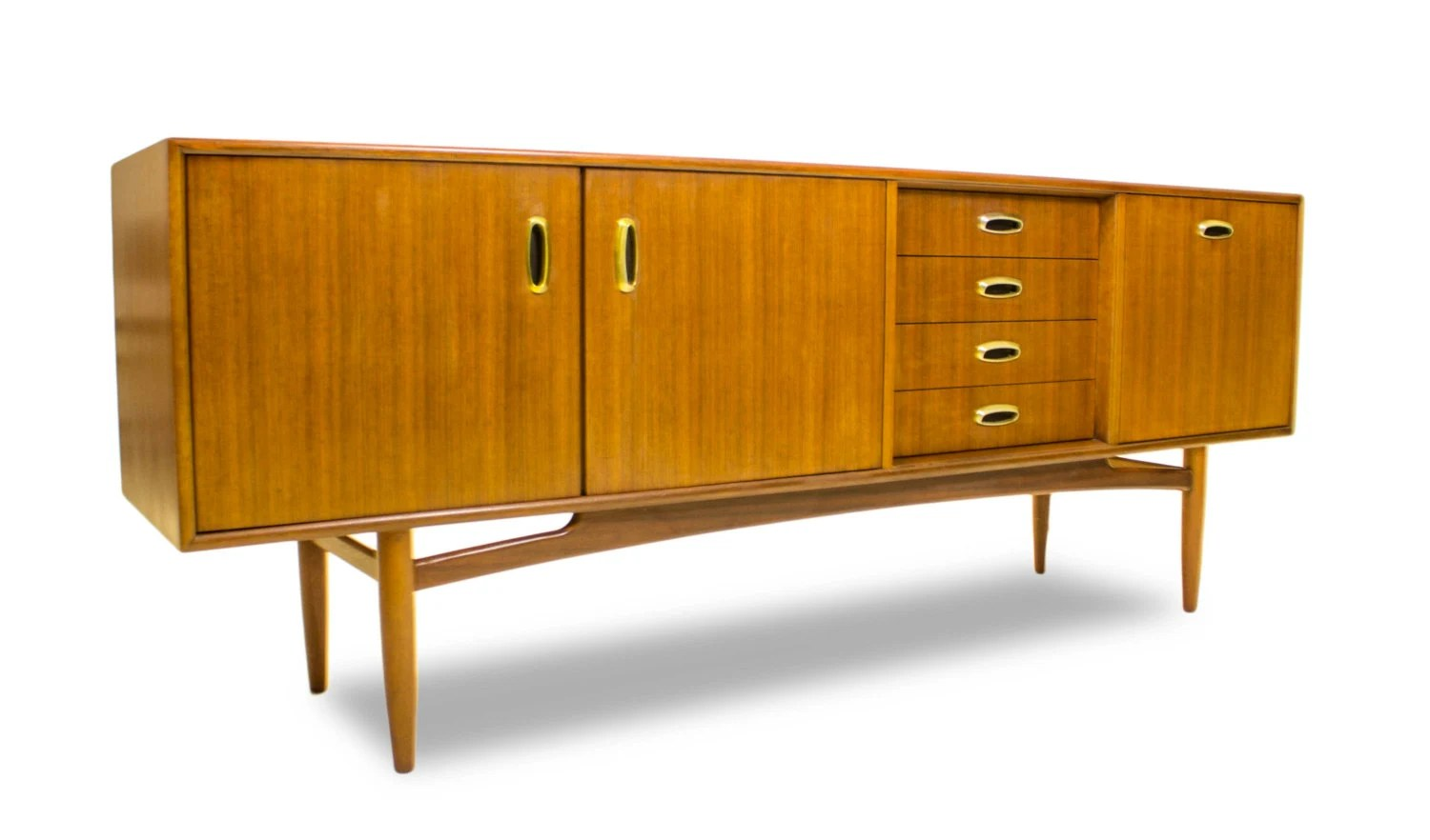Ib kofod larsen style g plan credenza tv stand media console or drinks cabinet danish style - Media consoles for small spaces plan ...