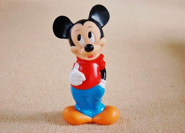 Mickey Mouse Bank Plastic Vinyl Coin Walt Disney