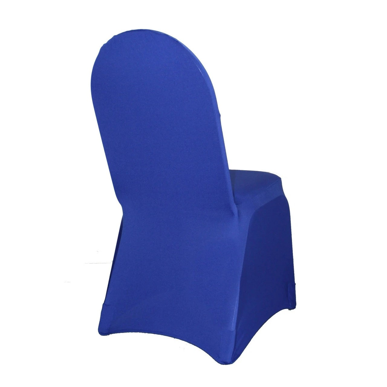 royal blue chair covers upholstered accent spandex banquet cover stretch