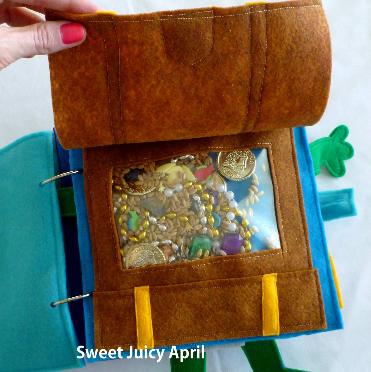 I Spy Treasure Chest Quiet Book Page By SweetJuicyApril On
