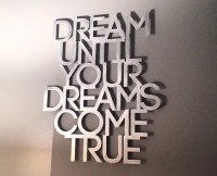 Dream Metal Wall Art Quote Dream On Aerosmith Dream