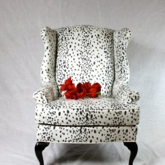 Giraffe Print Chair Sashes Cheap Wholesale Covers For Sale Sold Can Replicate Dalmatian Fabric Faux Suede Wing Back