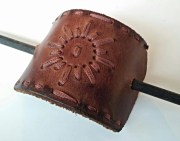 vintage leather ponytail holder