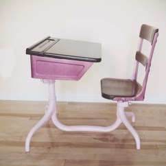 Chair Desk Combo Peg Perego Pink High Vintage School 1920 39s American Seating