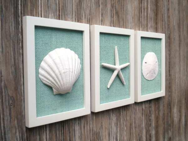 Beach Bathroom Decor Wall Art