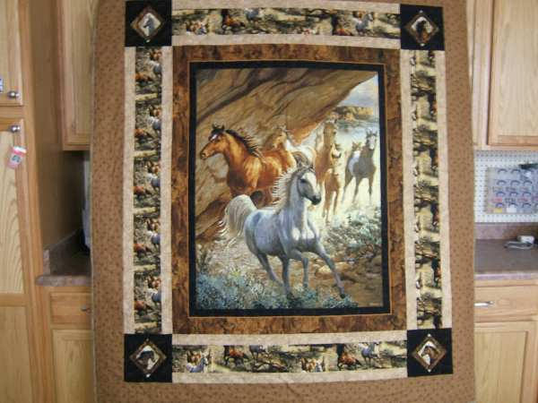 Horse Panel Quilt Pattern
