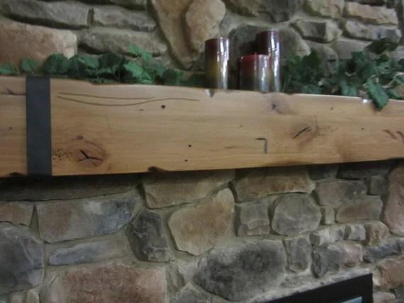 Knotty Alder Hand Made Rustic Fireplace Mantel Shelf