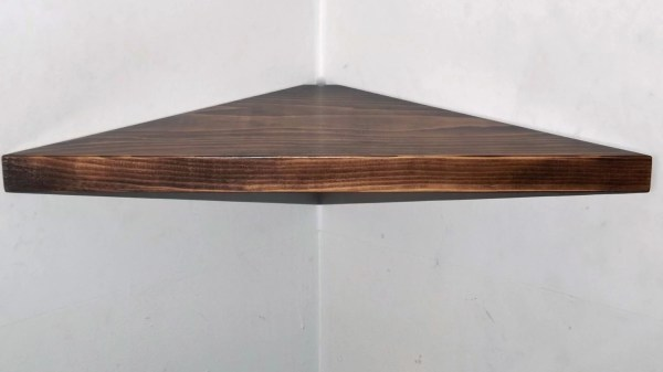 Floating Corner Shelf Solid Wood With Bawoodworking