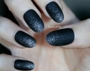 sparkling silver black matte false