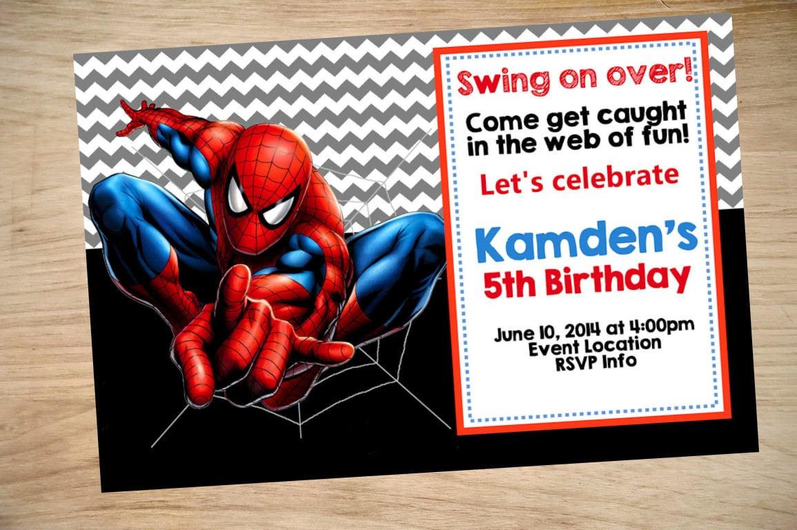 spiderman birthday invitation maker
